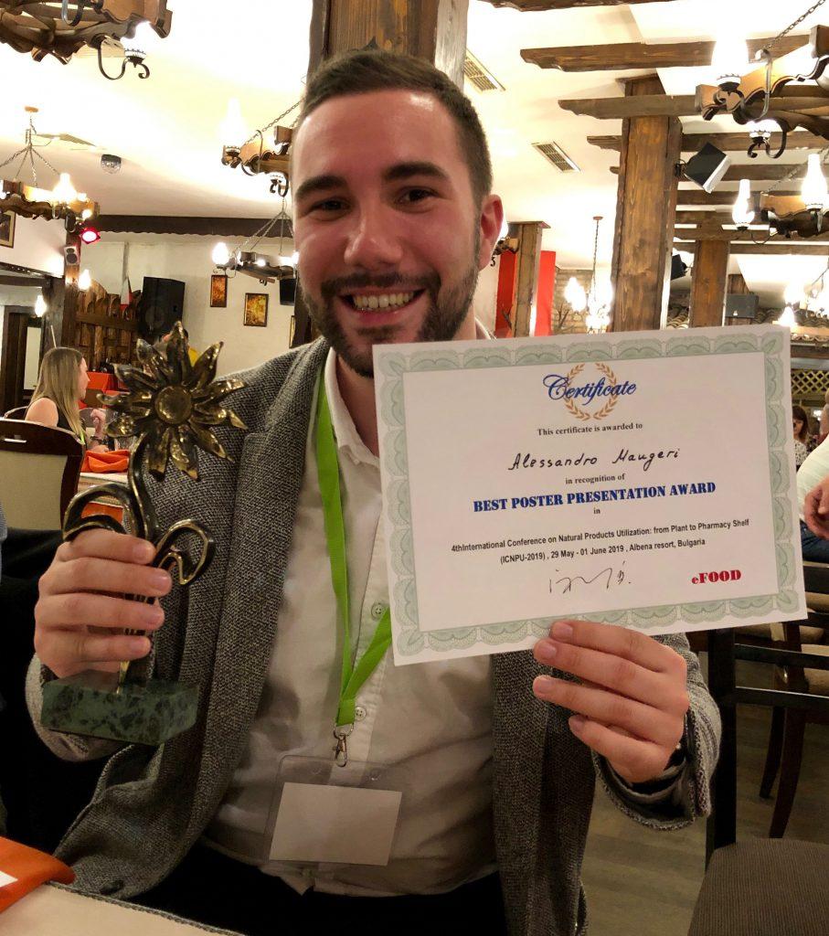 alessandro maugeri, dottorando di Messina, vince il best poster award