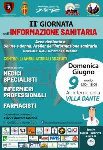 locandina della ii giornata dell'informazione sanitaria: previste a messina visite mediche gratuite e una campagna informativa