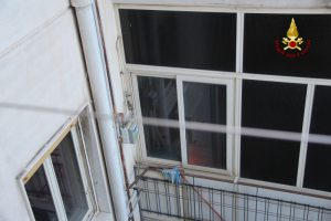 incendio appartamento di piazza duomo