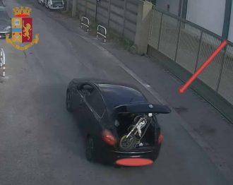 cronaca arresto per furto di una moto da cross