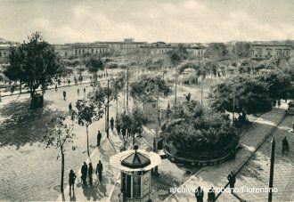 foto d'epoca di piazza cairoli, messina