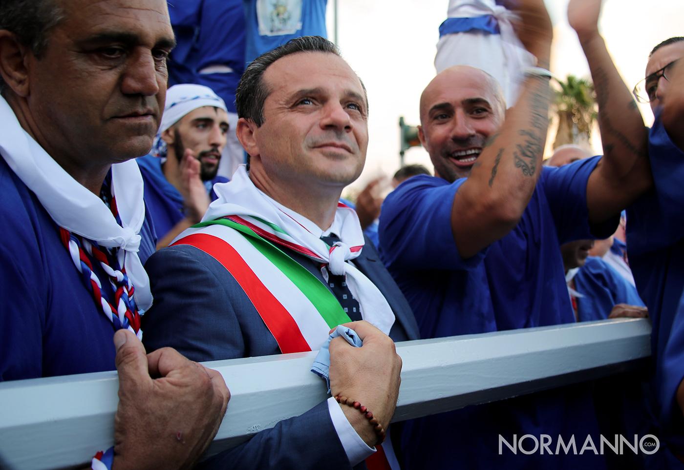 Cateno De Luca alla Vara 2019, Messina