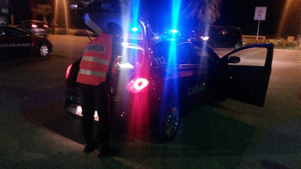 carabinieri controllo sulla movida della provincia di messina