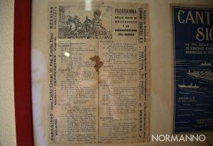foto del programma della Vara di 90 anni fa al museo della vara di messina