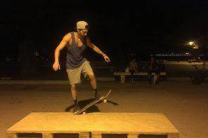 Carlo Gumina. Il ragazzo con lo skateboard alla Passeggiata a mare di Messina