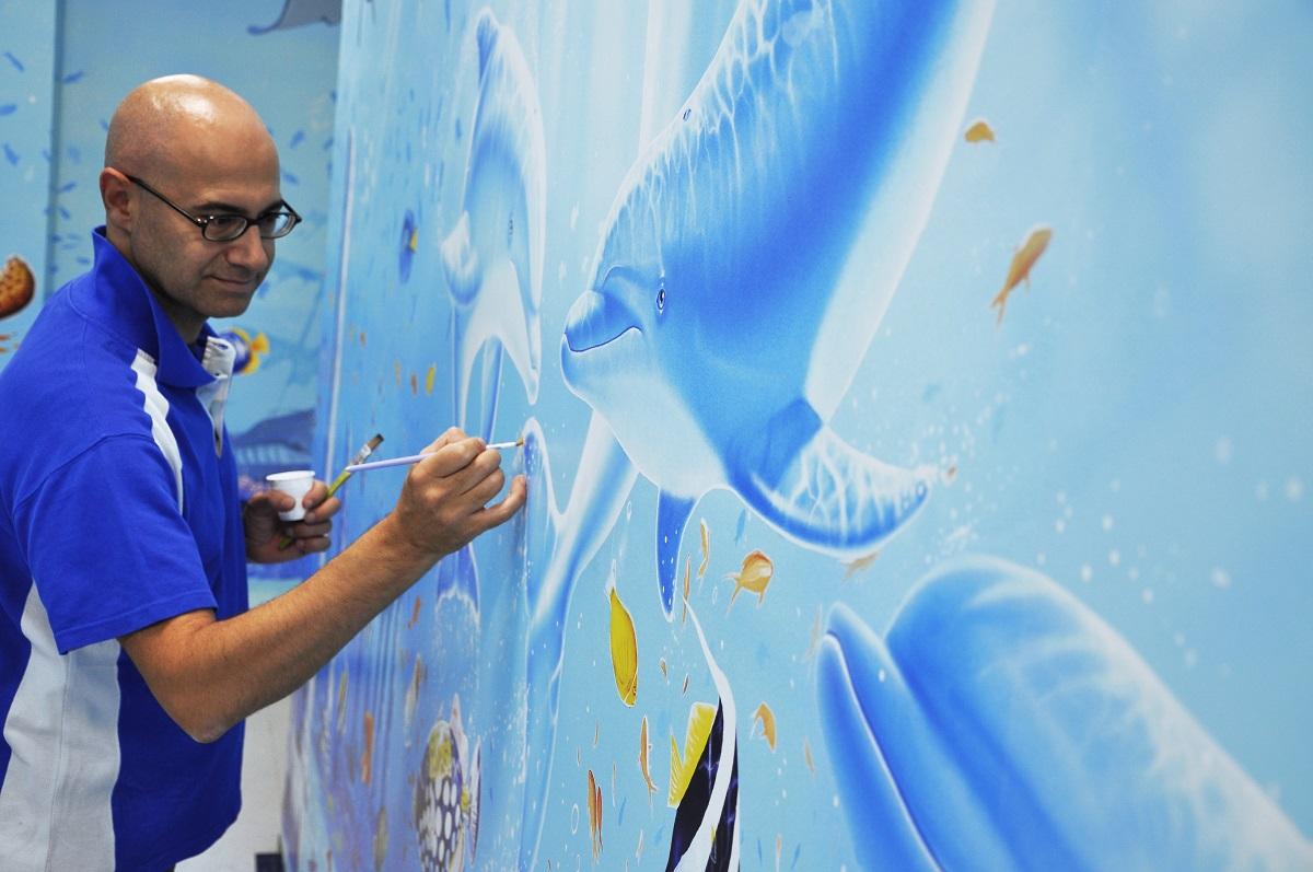 silvio irilli ospedali dipinti murales policlinico di messina