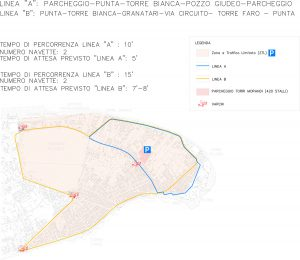 planimetria del progetto per la ztl a torre faro del movimento 5 stelle