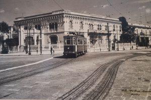 foto d'epoca tram esposta alla mostra di ATM
