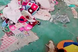 Topi, umidità e infiltrazioni d'acqua. Emergenza abitativa alla scuola Cataratti – VIDEO