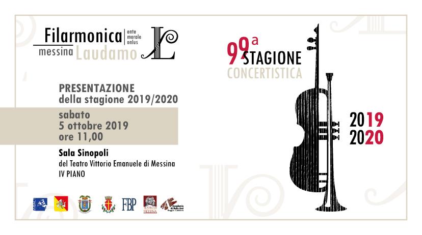 Banner per la presentazione della nuova stagione concertistica della Filarmonica Laudamo di Messina