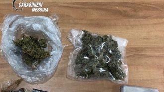 droga sequestrata a seguito dell'arresto di una giovane coppia della provincia di messina da parte dei carabinieri