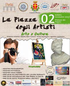 """locandina dell'evento """"piazza degli artisti"""" a piazza del Popolo a Messina"""