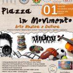 """locandina dell'evento """"piazza in movimento"""" a piazza del popolo a messina"""