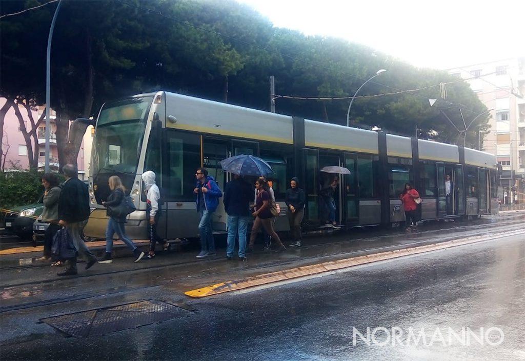 tram bloccato a Messina