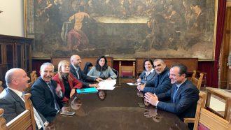 riunione giunta de luca con il cda amam per l'approvazione del bilancio 2018