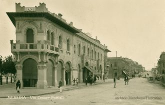c'era una volta Messina: foto d'epoca dei palazzi coppedè. Palazzo Coppedè via Garibaldi