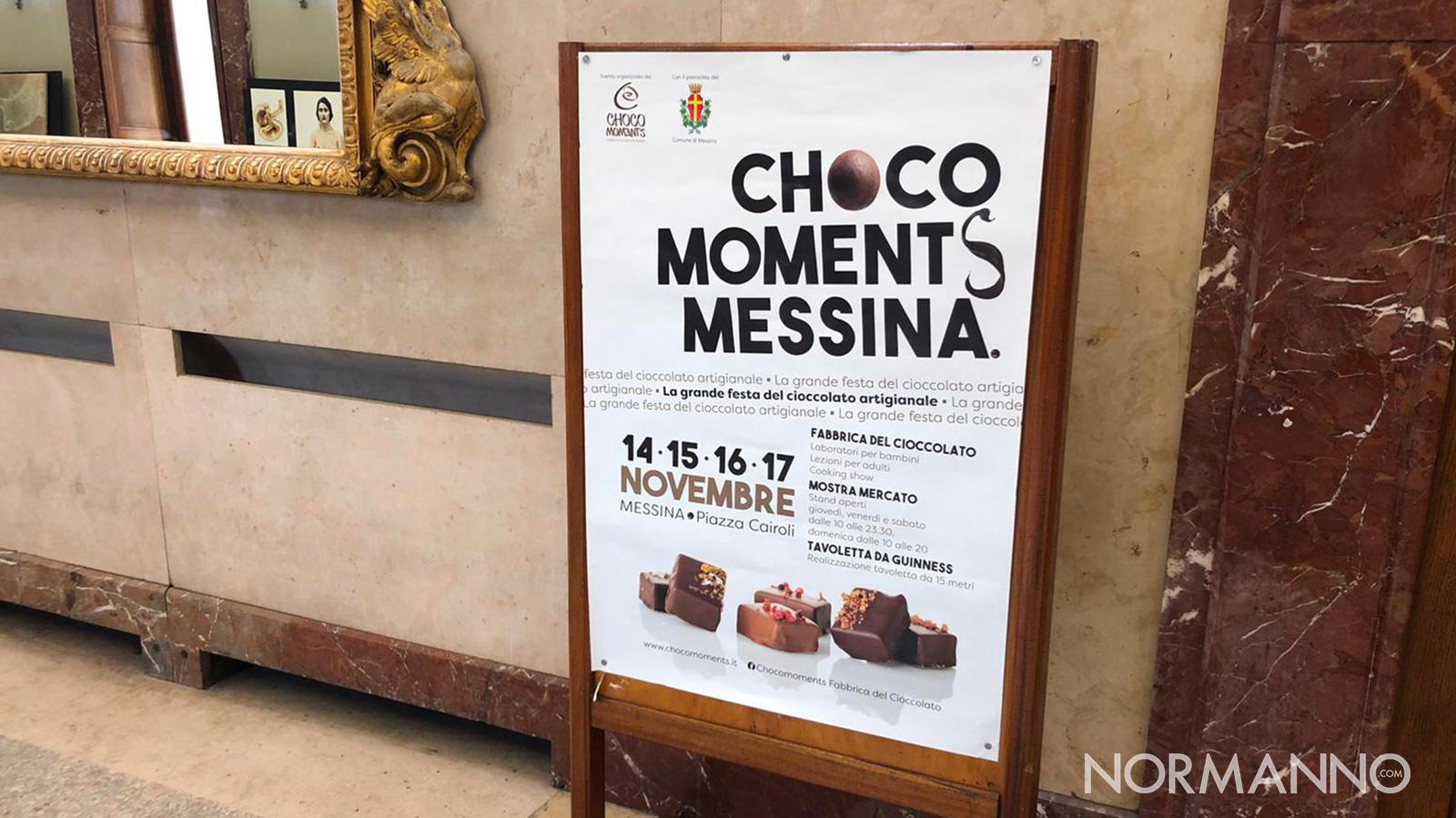 locandina della presentazione festa del cioccolato artigianale choco moments messina