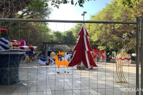 Messina. Tolto il telone dal Giardino delle Luci di piazza Cairoli – FOTO