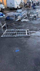 danni per il maltempo al mercato zir a messina
