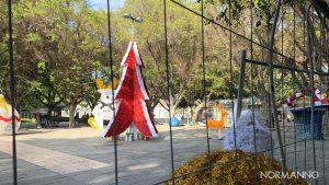 giardino delle luci di piazza cairoli dopo la rimozione del telone