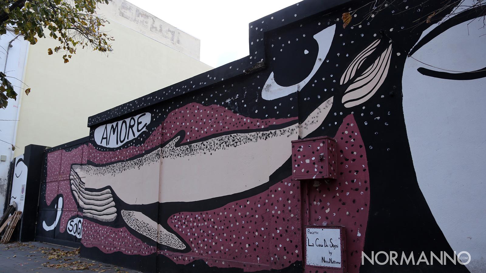 Luoghi di Messina: il deposito dei Giganti, il murales la casa dei sogni