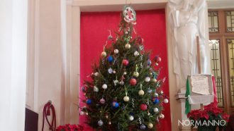 albero di natale in prefettura a messina