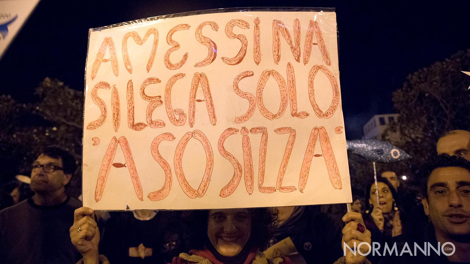 manifestazione delle sardine a messina, a piazza unione europea