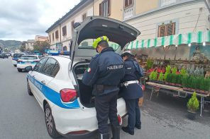 Foto sequestro polizia municipale sul viale Europa - Messina