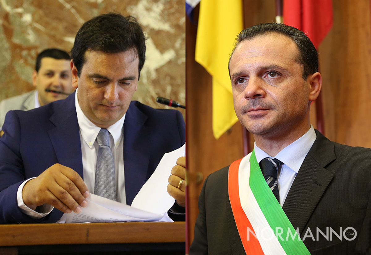 Foto confronto fra Salvatore Sorbello e Cateno De Luca