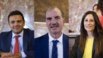 gruppo in consiglio comunale di sicilia futura: nino interdonato, piero la tona e daria rotolo, messina