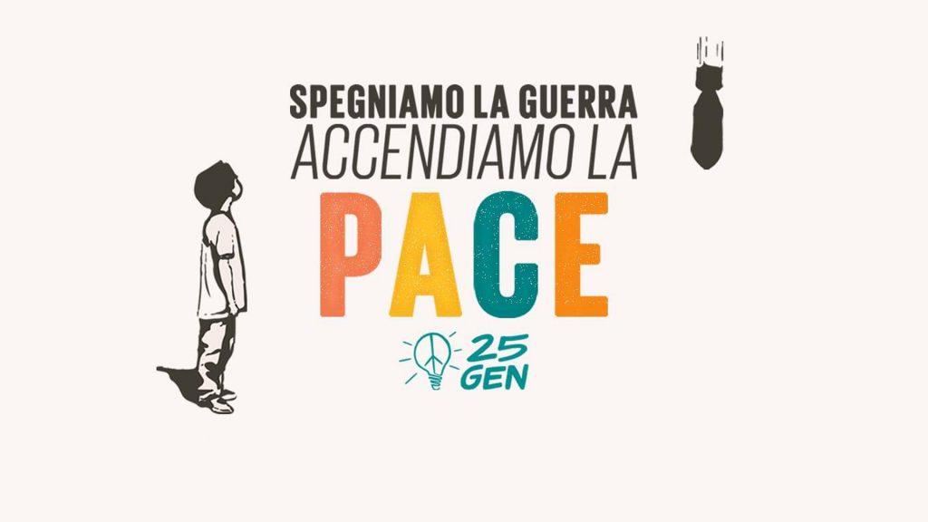 """Immagine di riferimento - manifestazione """"spegniamo la guerra accendiamo la pace"""""""