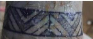 Foto tatuaggio tribale sul polso - sub morto castel di tusa