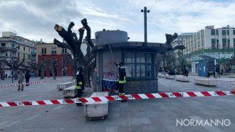 Foto intervento vigili del fuoco a Piazza Cairoli - Messina