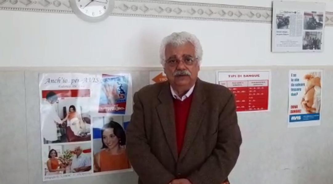 Francesco Previte ringrazia in un video per le donazioni all'Avis Messina