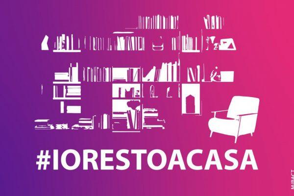 locandina campagna #iorestoacasa contro la diffusione del coronavirus