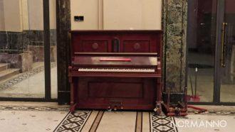 danneggiato il pianoforte della Galleria Vittorio Emanuale a Messina