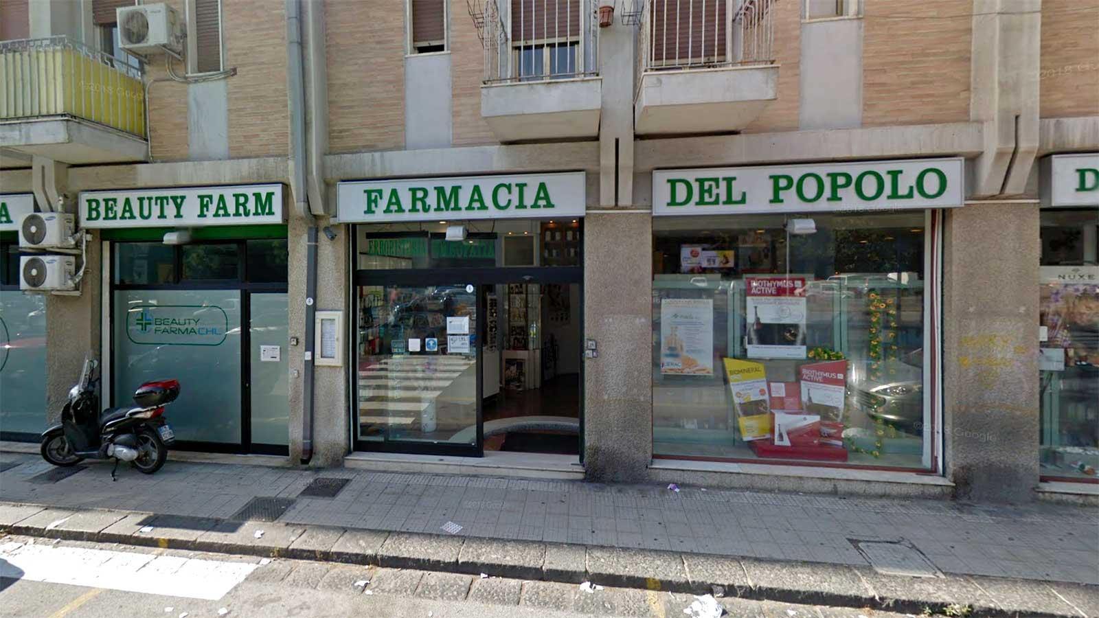 foto della farmacia del popolo di viale giostra, a messina