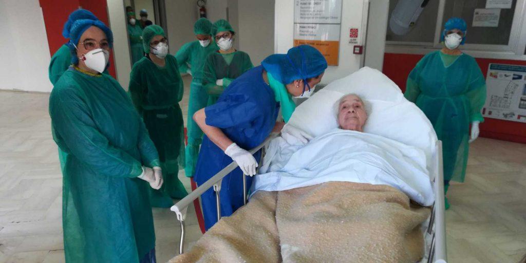 Nonna Concetta, donna di 100 anni, guarita dal coronavirus al policlinico di messina
