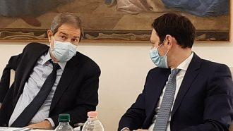foto di Nello Musumeci e Ruggero Razza durante l'emergenza coronavirus