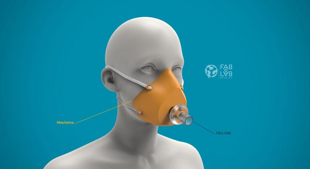 la mascherina stampata dal fablab per openmask sicilia