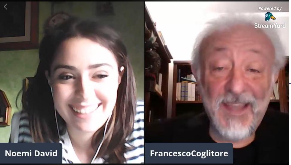 Noemi David e Francesco Coglitore - voci dal palco aperitivo con artisti