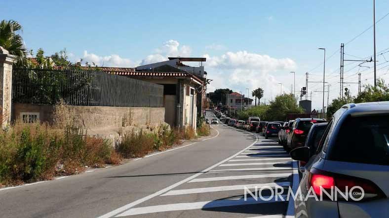 lunghe code e traffico in tilt a messina per la chiusura dello svincolo di tremestieri