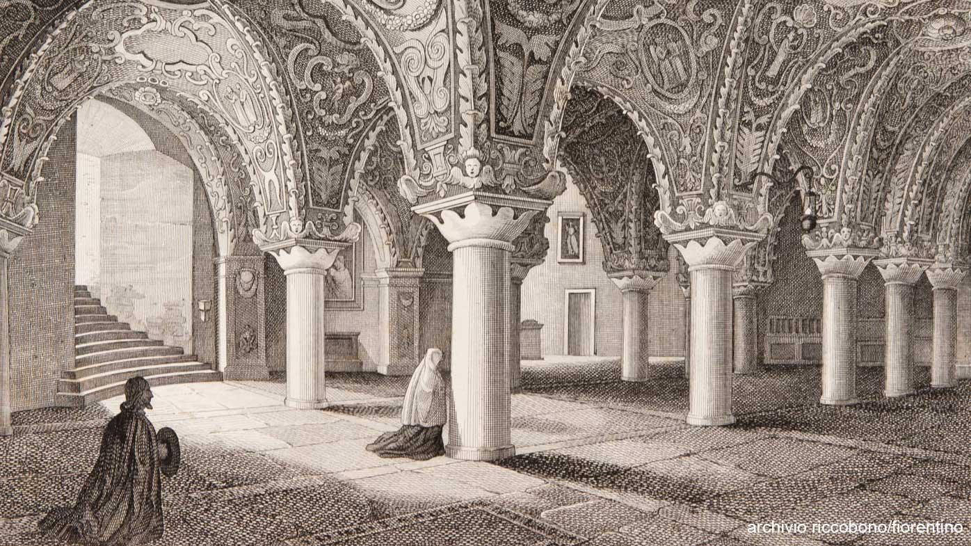 stampa della cripta del duomo di messina