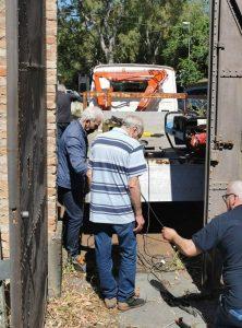 foto della riparazione dell'ingresso forzato di Forte Ogliastri, a Messina