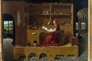 dipinto san girolamo nello studio, di Antonello da Messina