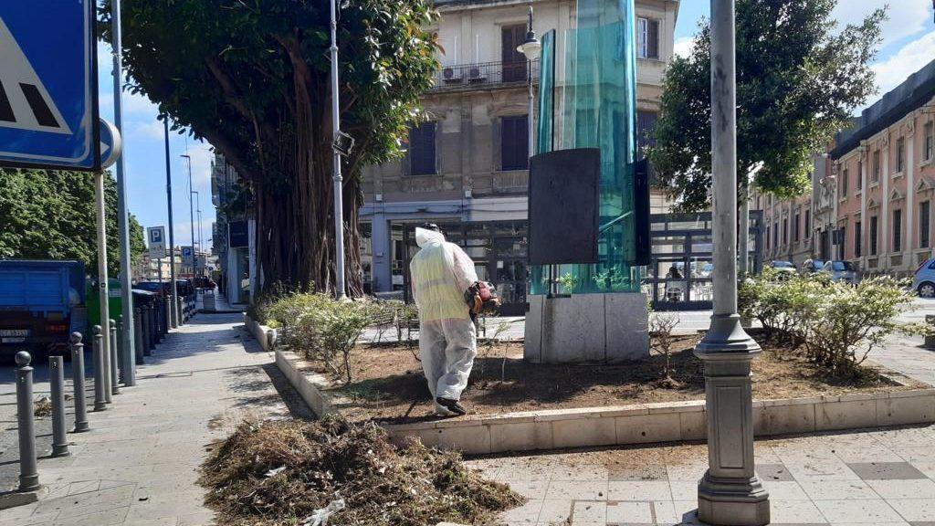pulizia, disinfezione e scerbatura di ville e villaggi di messina da parte di messinaservizi bene comune