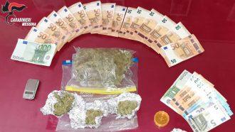 Stupefacente e denaro sequestrato dai carabinieri di messina centro