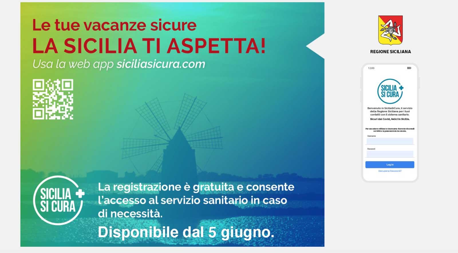 schermata sito web sicilia sicura e app