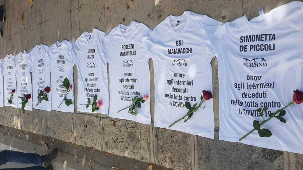 belle notizie: flash mob in ricordo degli infermieri morti a causa del coronavirus a palermo
