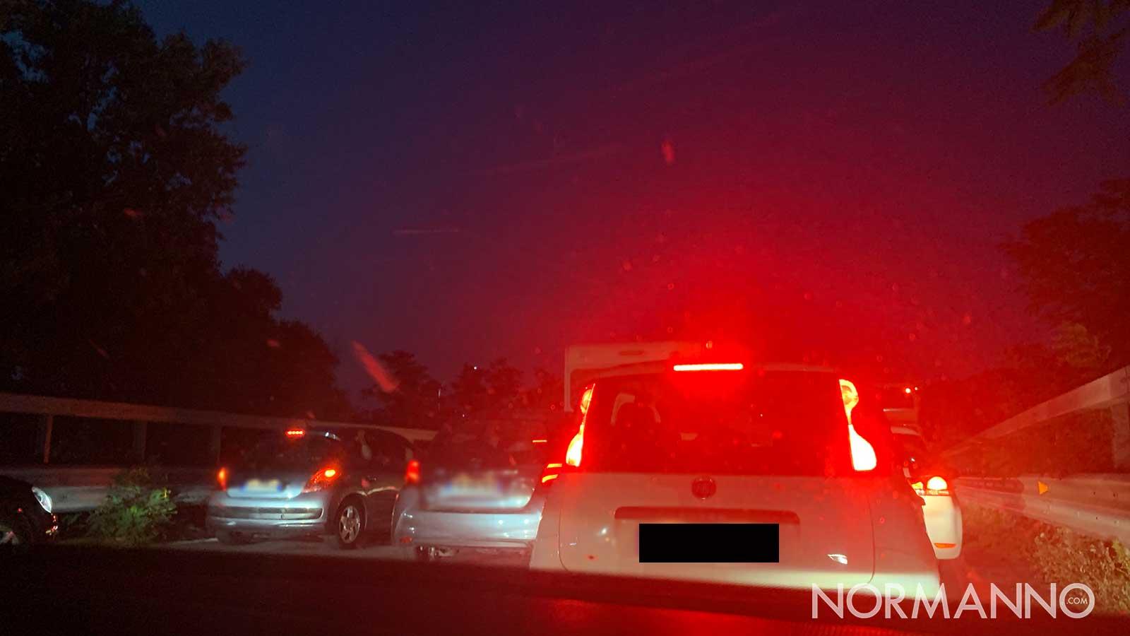 traffico sull'autostrada a20 messina palermo al casello di villafranca